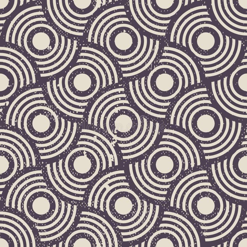 Fondo inconsútil geométrico retro, patte de la repetición del vector del vintage libre illustration