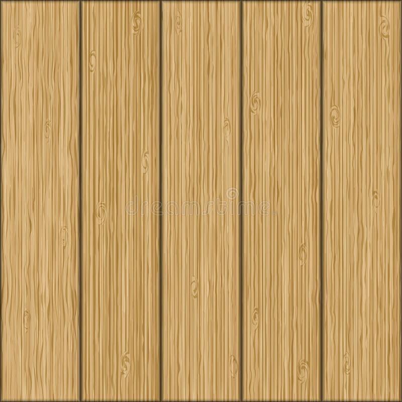 Fondo inconsútil hermoso Textura realista de tableros de madera ilustración del vector