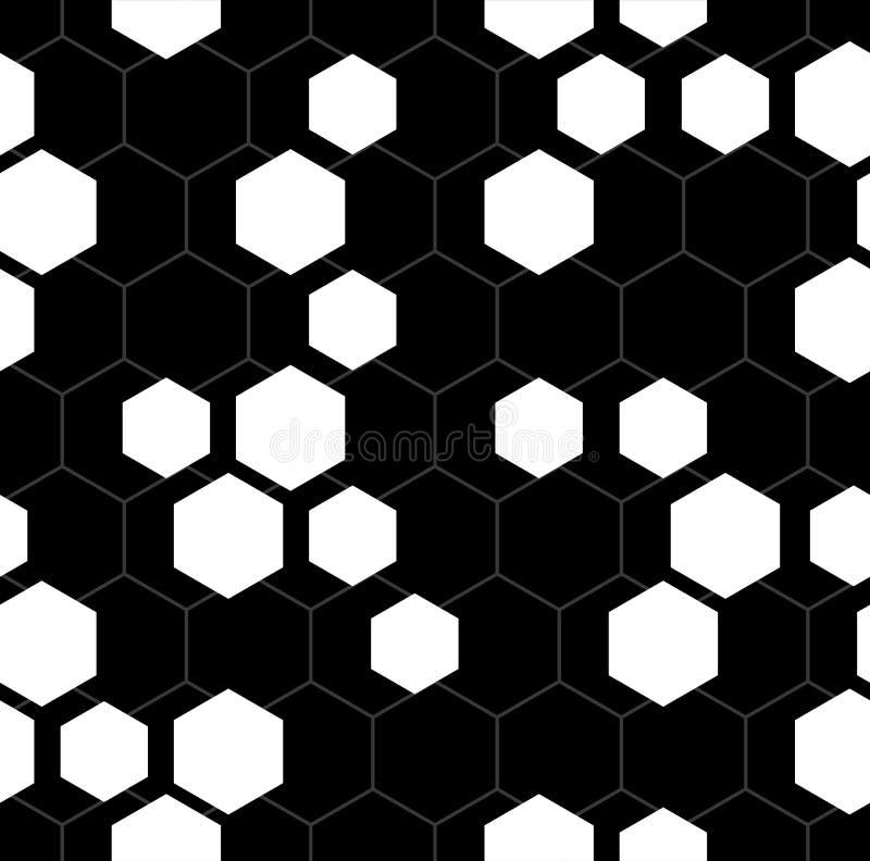 Fondo inconsútil hexagonal del modelo del vector stock de ilustración