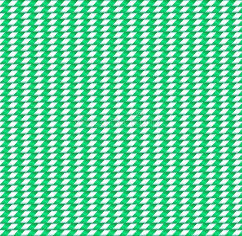 Fondo inconsútil lindo con el modelo a cuadros verde y blanco stock de ilustración