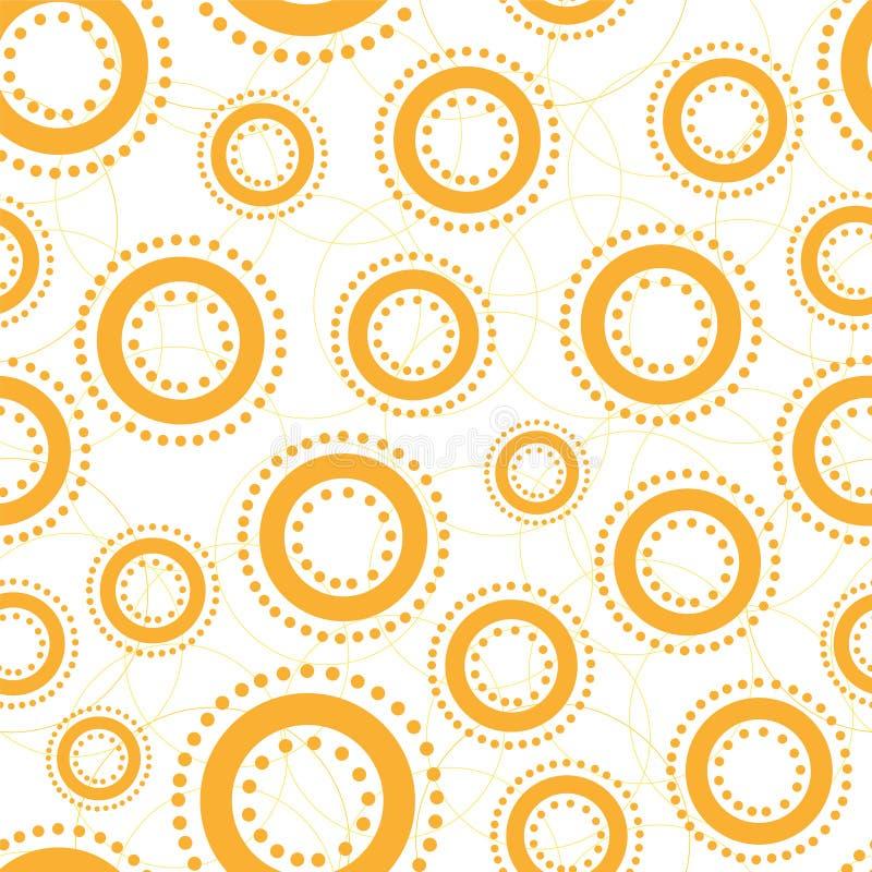 Fondo inconsútil lindo con los círculos abstractos ilustración del vector