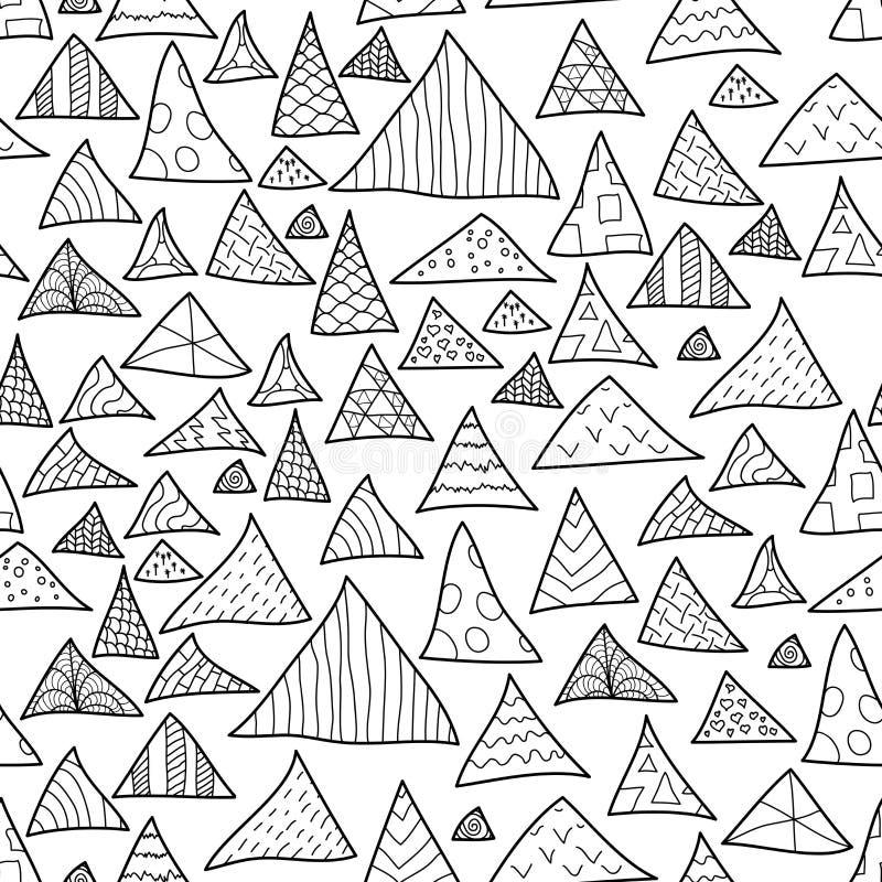 Fondo inconsútil, modelo blanco y negro del inconformista ilustración del vector