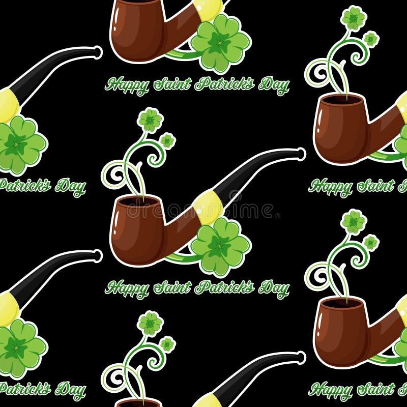 Fondo inconsútil para el día de Patricks con simbol y los tréboles libre illustration