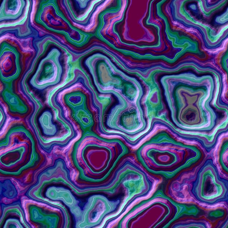 Fondo inconsútil pedregoso del modelo de la ágata de mármol - color verde azul violeta púrpura de la perla oscura - superficie ás libre illustration
