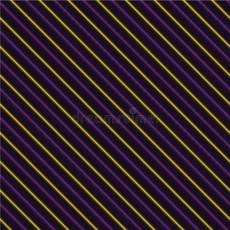 Fondo inconsútil rayado púrpura y amarillo ilustración del vector