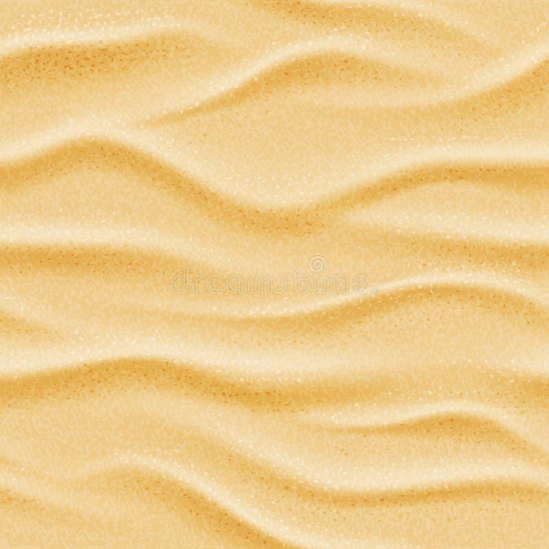 Fondo inconsútil realista del arena de mar de la playa del vector ilustración del vector