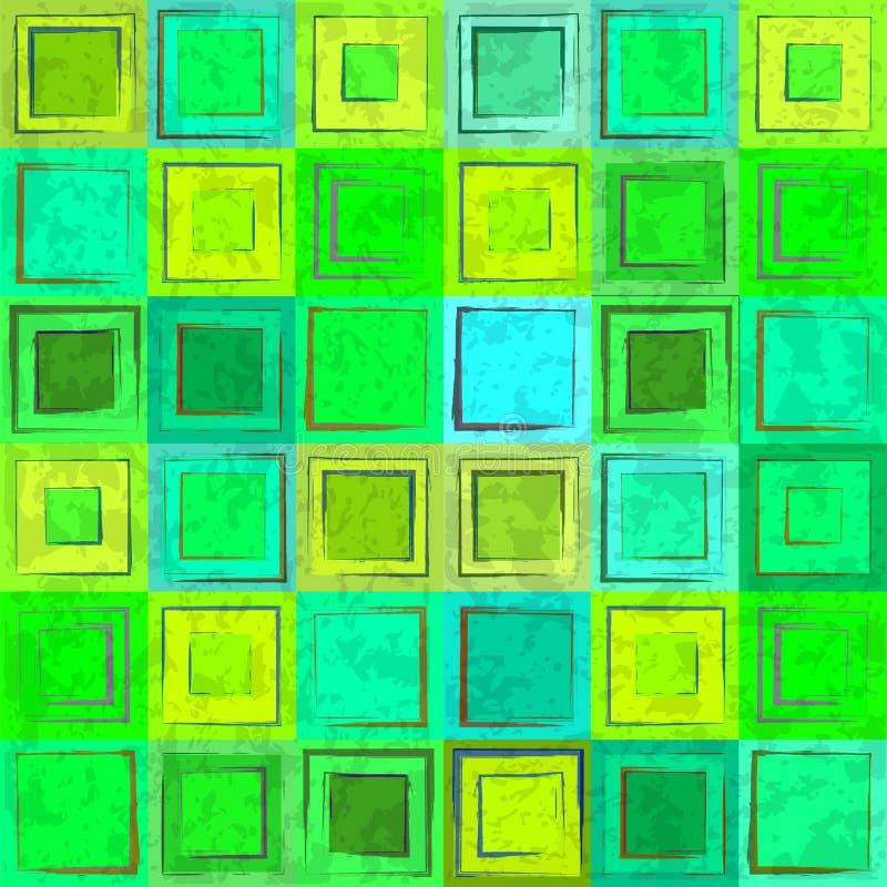 Fondo inconsútil retro colorido verde abstracto libre illustration