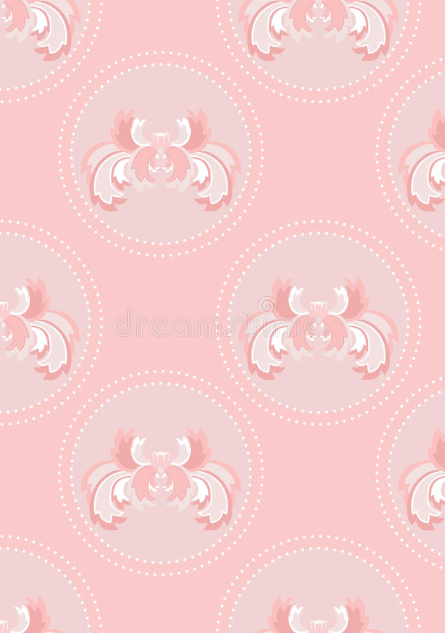 Fondo inconsútil rosado delicado con la flor ilustración del vector