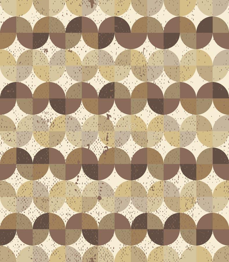 Fondo inconsútil texturizado vintage del entarimado geométrico ondulado libre illustration