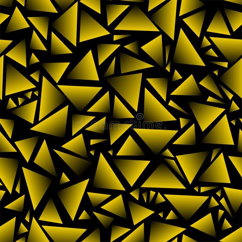 Fondo inconsútil triángulos del negro y del oro Vector stock de ilustración
