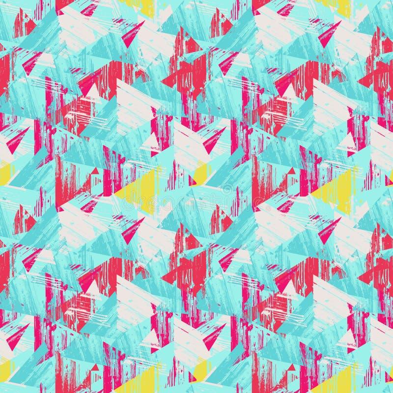 Fondo inconsútil triangular Modelo geométrico inconsútil libre illustration