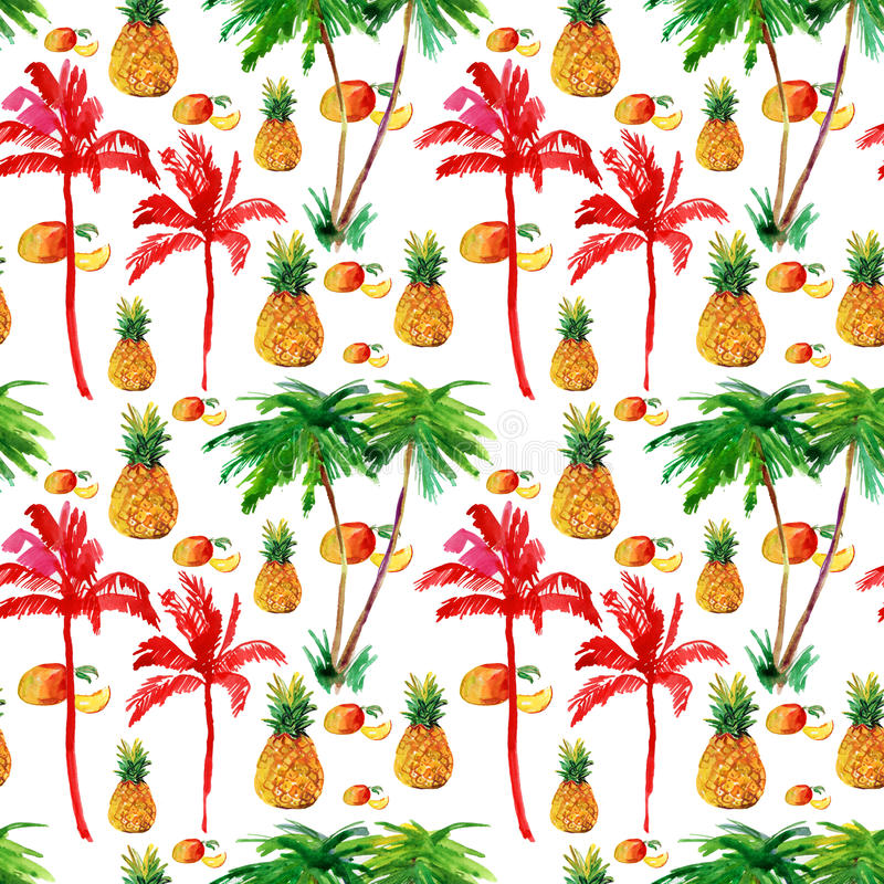 Fondo inconsútil tropical. ilustración del vector