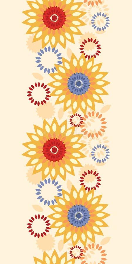 Fondo inconsútil vertical abstracto floral vibrante caliente del modelo ilustración del vector