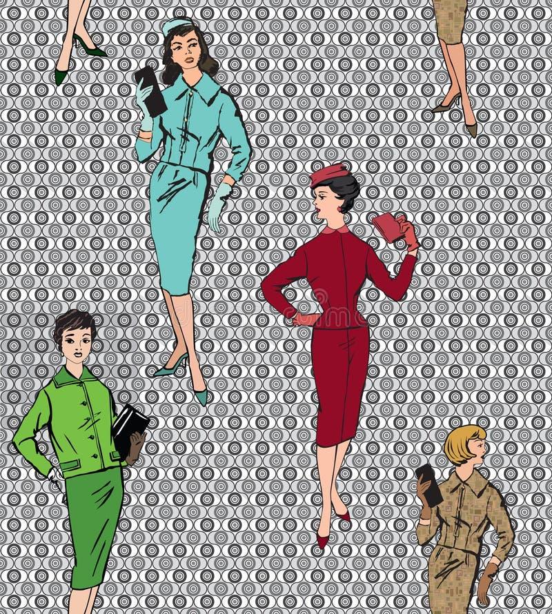Fondo inconsútil vestido moda de la muchacha libre illustration