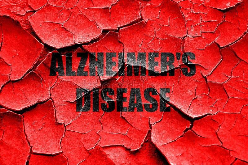 Fondo incrinato del morbo di Alzheimer di lerciume fotografia stock libera da diritti