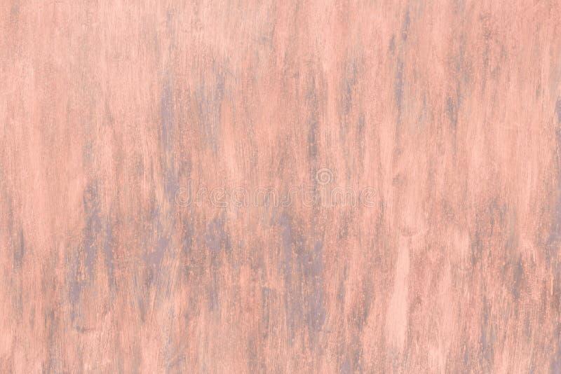 Fondo industrial abstracto del color coralino anaranjado del rosa con la textura de la superficie de metal lamentable pintada del fotografía de archivo libre de regalías