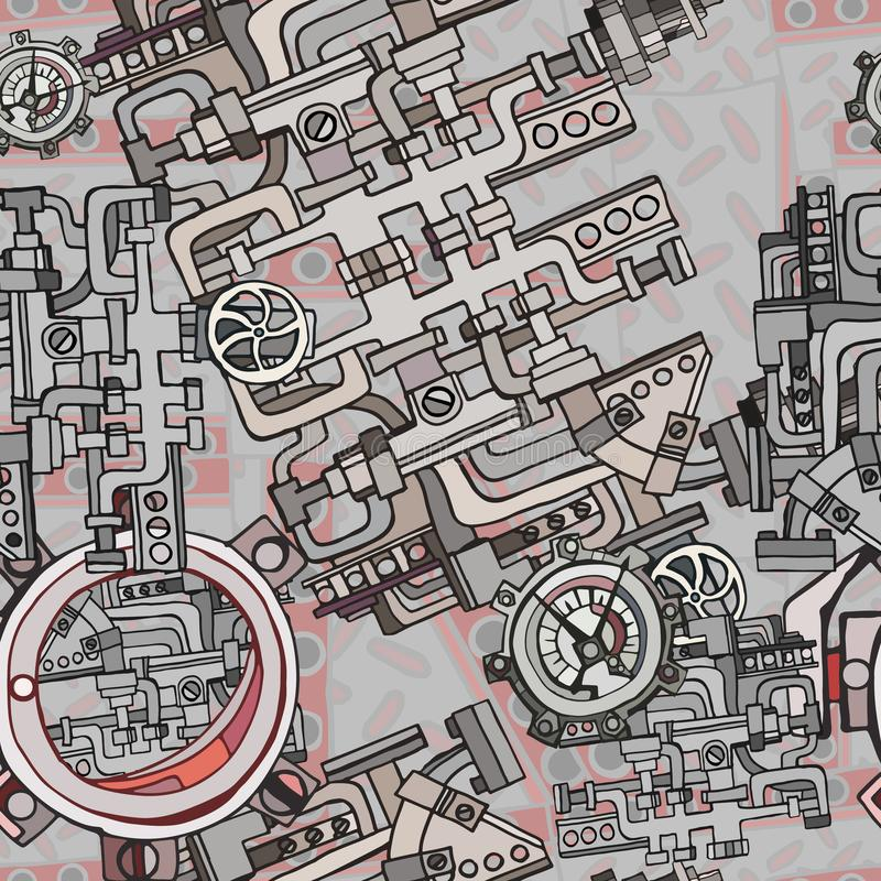 Fondo industrial inconsútil abstracto de la fábrica fotografía de archivo libre de regalías