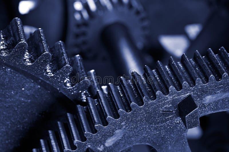 Fondo industrial sucio de los engranajes foto de archivo libre de regalías