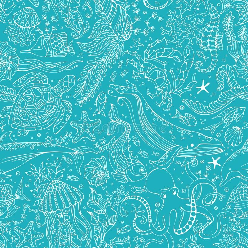 Fondo infinito del profilo subacqueo di vettore illustrazione vettoriale