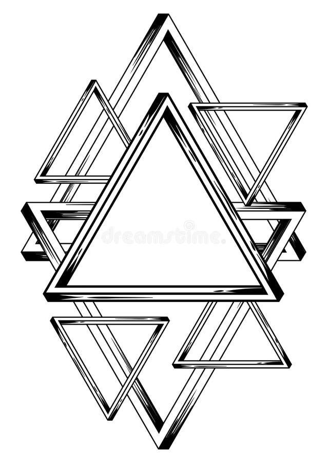 Fondo infinito imposible de los triángulos ilustración del vector