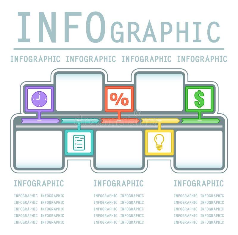 Fondo infografic comercial ilustración del vector