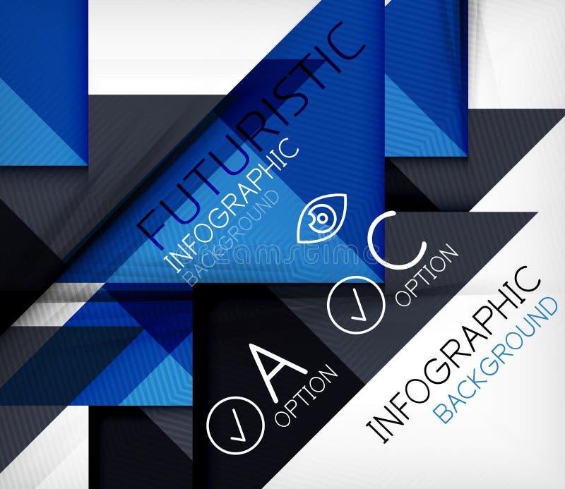 Fondo infographic di forma geometrica del triangolo illustrazione di stock
