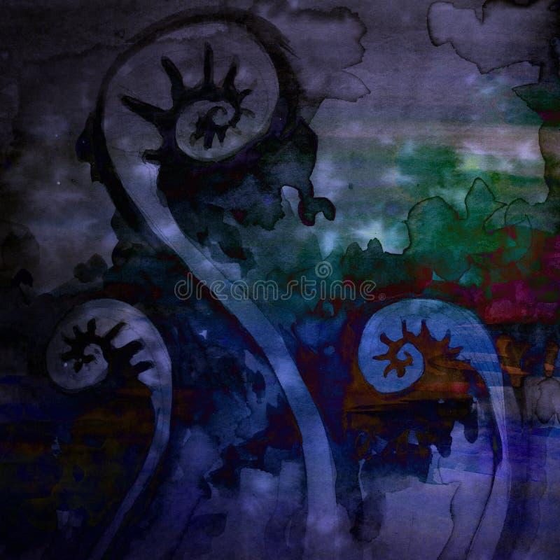 Fondo ingenioso de la acuarela espiral de la bobina libre illustration