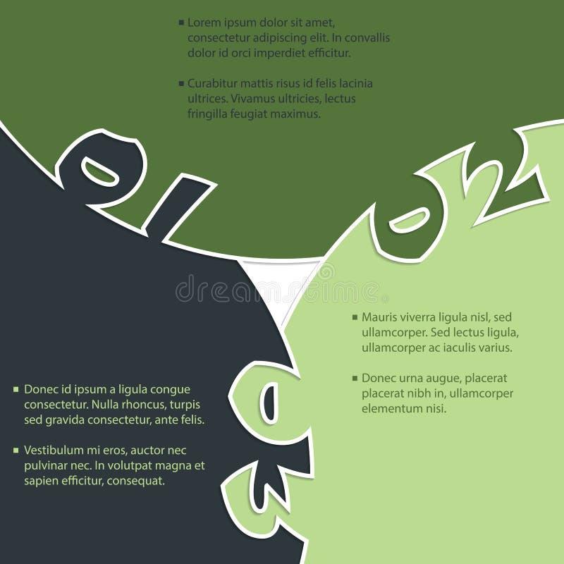 Fondo inmóvil con los grandes números ilustración del vector