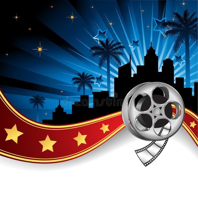 Fondo inspirado por la industria del cine stock de ilustración