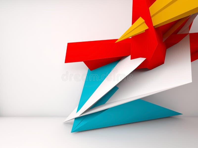 Fondo interior blanco abstracto, 3 d ilustración del vector