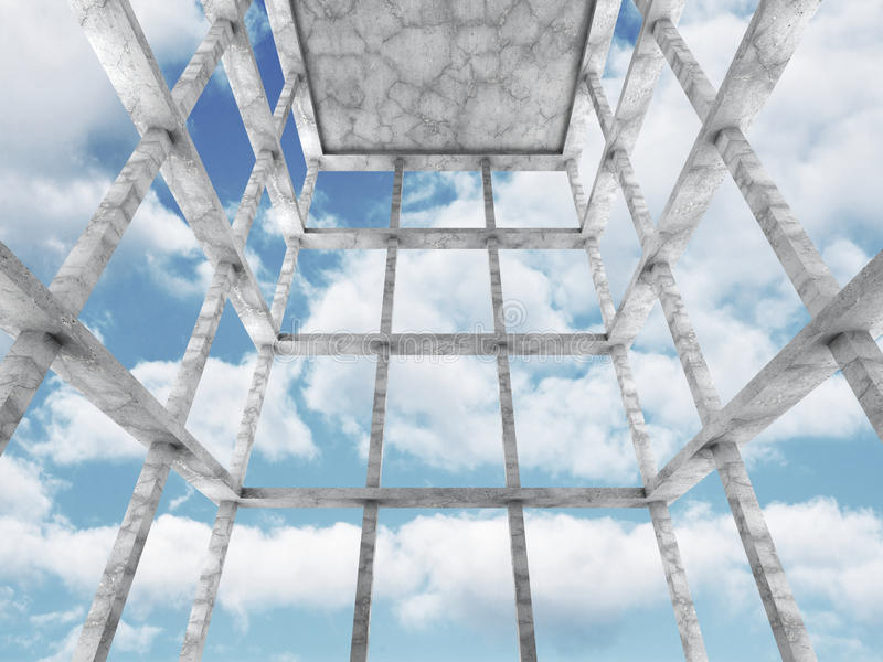 Fondo interior de la arquitectura del sitio vacío concreto imagen de archivo libre de regalías