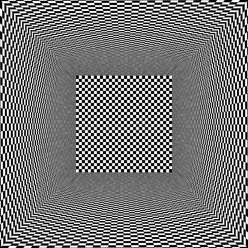 Fondo interior vacío blanco y negro del vector ilustración del vector