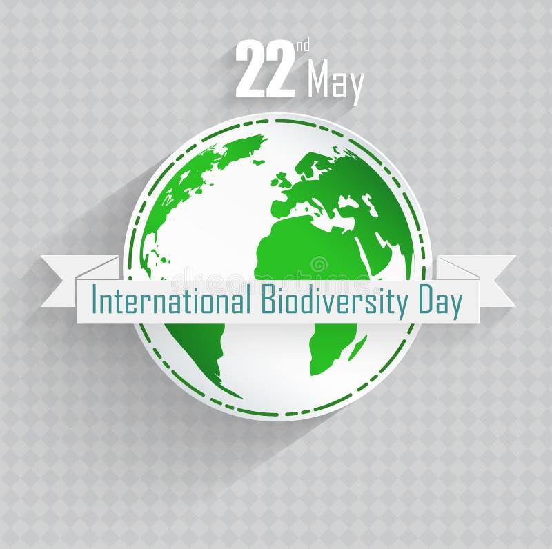 Fondo internacional del día de la biodiversidad stock de ilustración