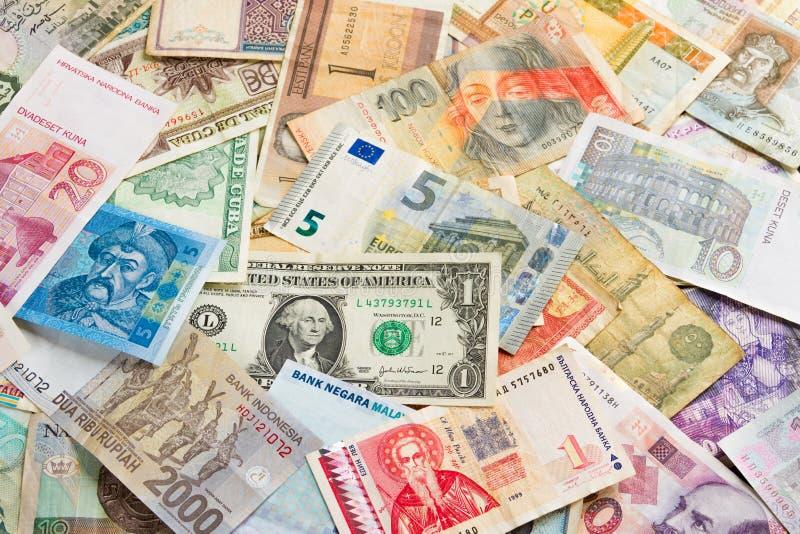 Fondo internazionale dei soldi fotografia stock libera da diritti