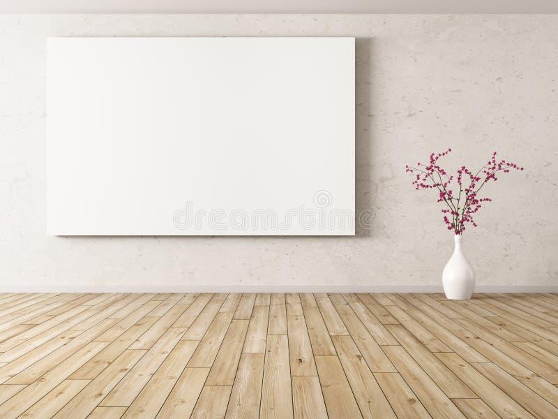 Fondo interno con la grande rappresentazione del manifesto 3d illustrazione di stock