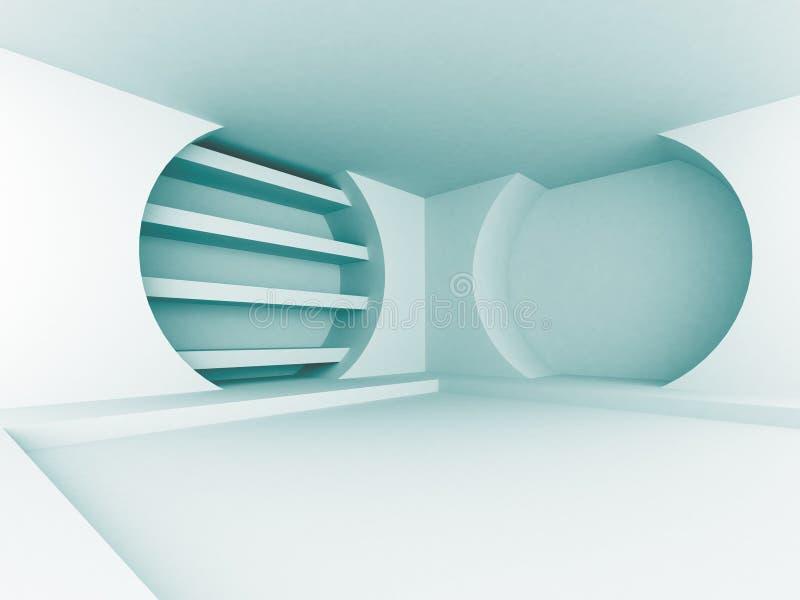 Fondo interno di architettura di progettazione futuristica blu astratta illustrazione vettoriale