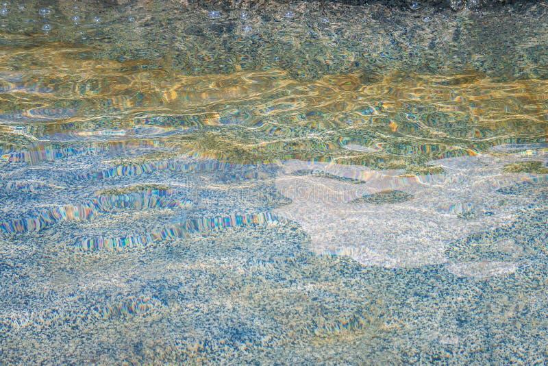 Fondo iridescente del granito della superficie dell'acqua dell'ondulazione immagine stock