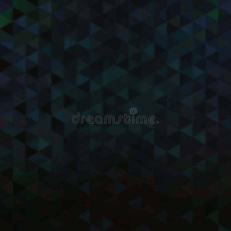 Fondo iridescente nero triangolare vago Struttura di mosaico scura illustrazione di stock