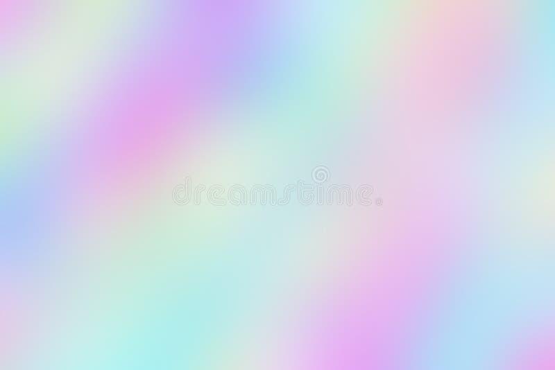 Fondo iridiscente confuso borroso del papel olográfico liso foto de archivo