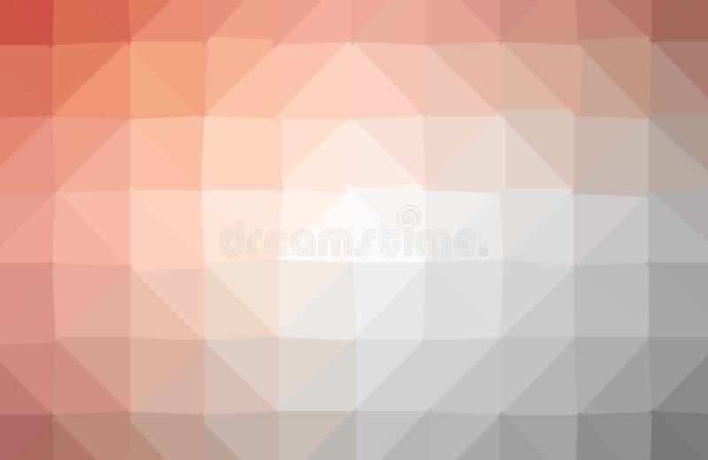 Fondo irregolare del poligono dell'estratto di vettore con un modello del triangolo nel multi colore completo illustrazione vettoriale