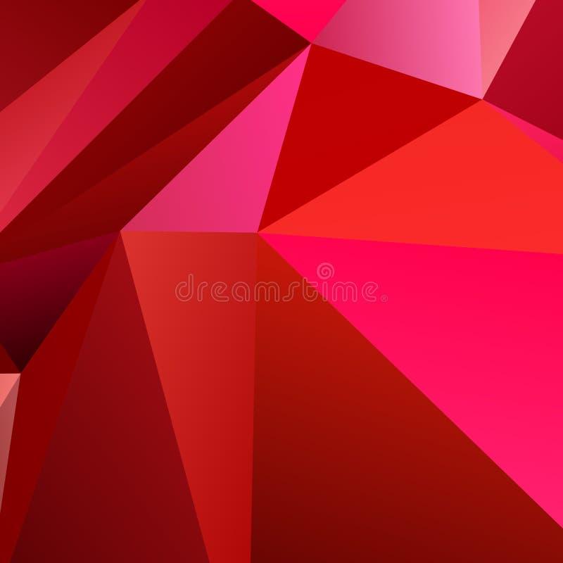 Fondo irregular geométrico del polígono del triángulo libre illustration
