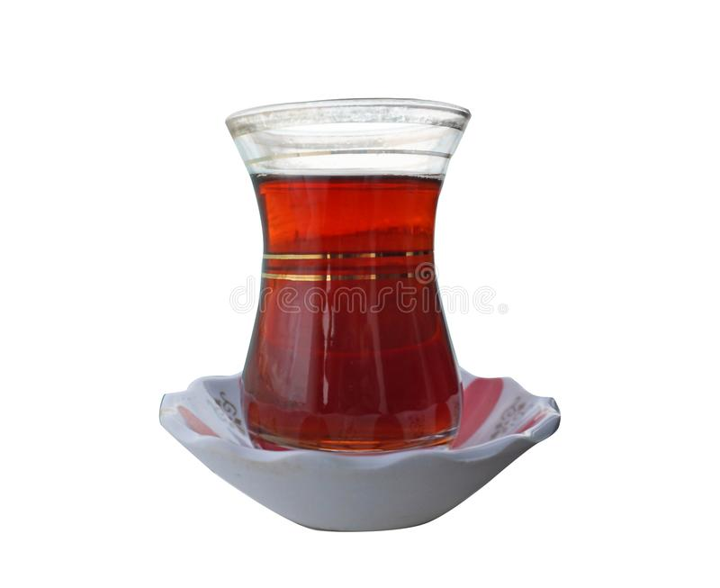Fondo isolato tè turco fotografia stock libera da diritti