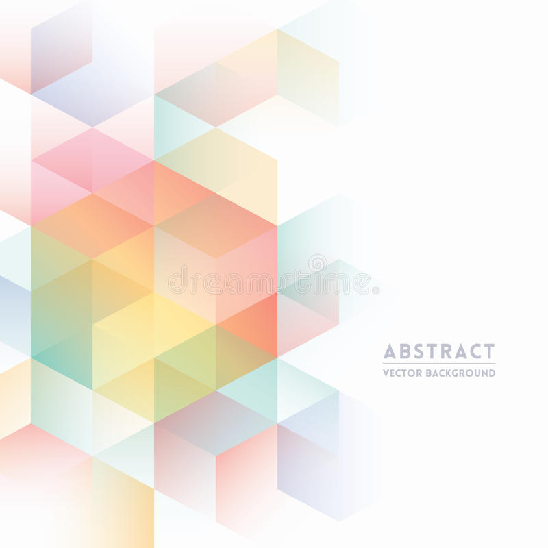 Fondo isométrico abstracto de la forma ilustración del vector