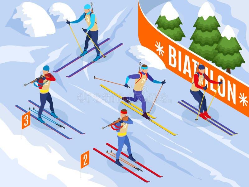 Fondo isométrico del Biathlon libre illustration