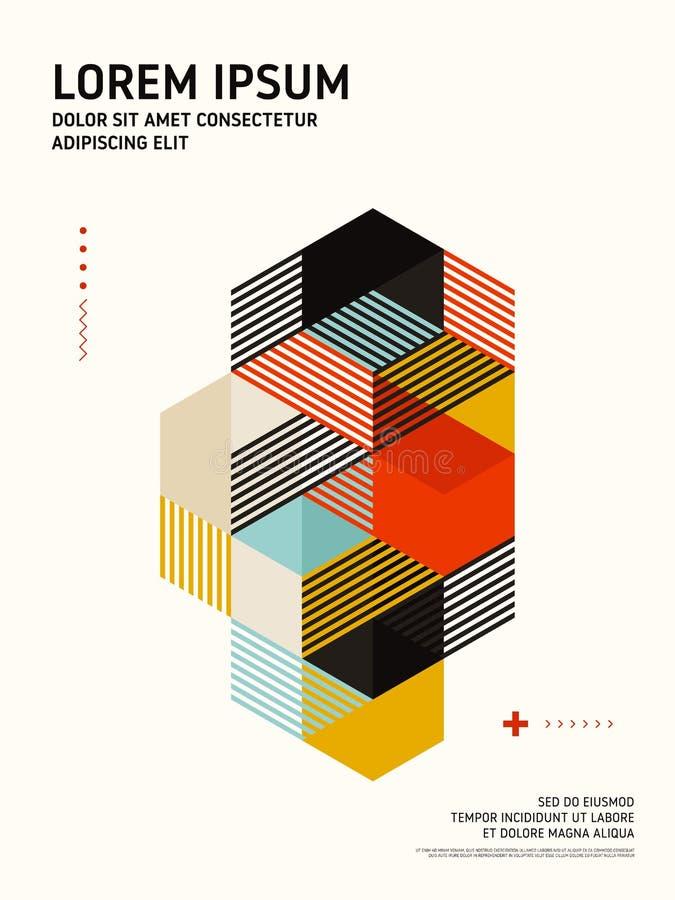 Fondo isométrico geométrico abstracto de la plantilla del diseño de la disposición de la forma libre illustration