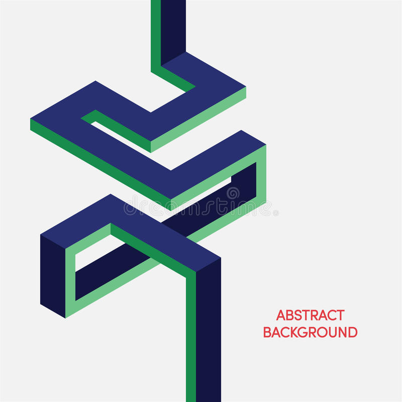 Fondo isométrico geométrico colorido abstracto ilustración del vector