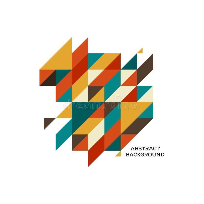 Fondo isométrico geométrico colorido moderno abstracto stock de ilustración