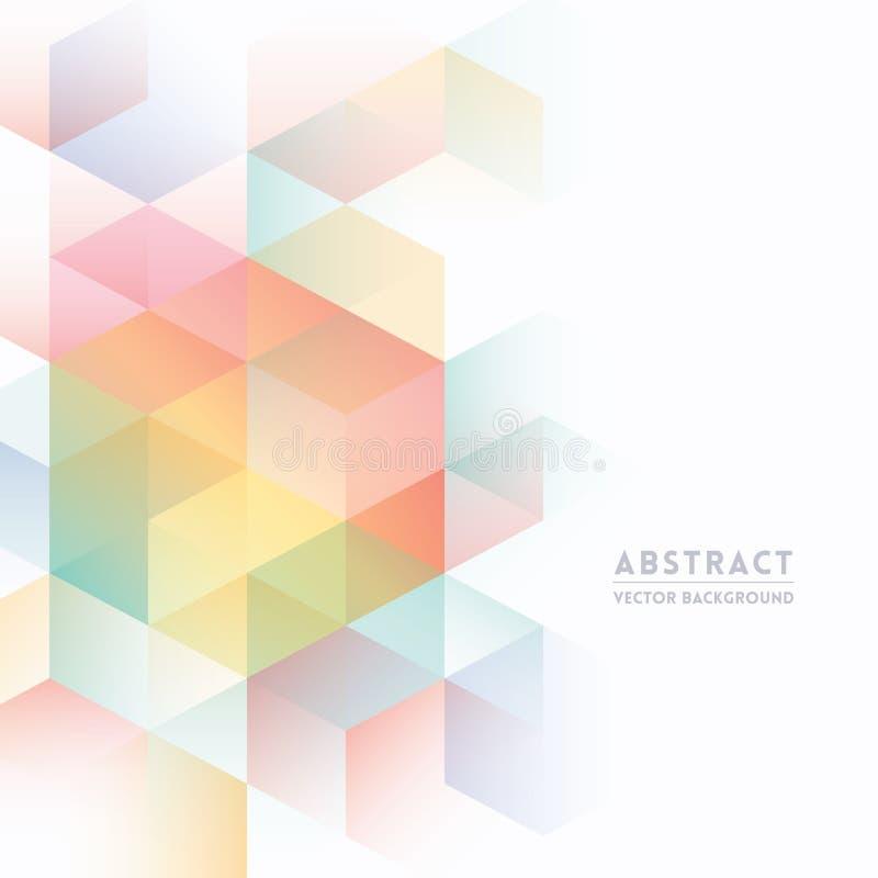 Fondo isometrico astratto di forma illustrazione vettoriale