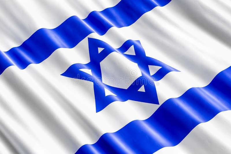 Fondo israeliano della bandiera, 3D illustrazione vettoriale