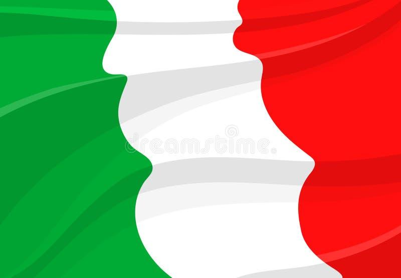 Fondo italiano della bandiera nello stile 3d royalty illustrazione gratis